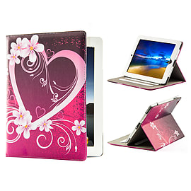 Design Book Pu Leather Wallet Case For Samsung Galaxy Tab S2 9.7? - Love Heart Mobile phones