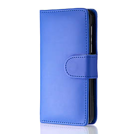 Book Pu Leather Wallet Case For Oppo R7 Plus - Deep Blue Mobile phones