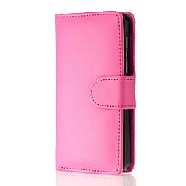 Book Pu Leather Wallet Case For Oppo R7 Plus - Hot Pink Mobile phones