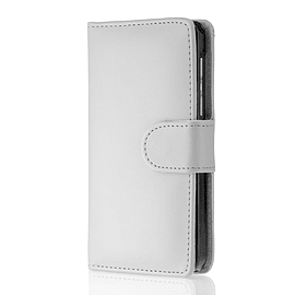 Book Pu Leather Wallet Case For Oppo R7 Plus - White Mobile phones