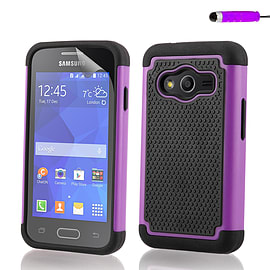Dual Layer Shockproof Case For Samsung Galaxy A8 - Purple Mobile phones
