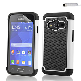 Dual Layer Shockproof Case For Samsung Galaxy A8 - White Mobile phones