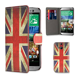 Design Book Pu Leather Wallet Case For Htc One M9 Plus - Union Jack Mobile phones