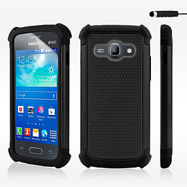 Dual Layer Shockproof Case For Samsung Galaxy J1 - Black Mobile phones