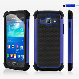 Dual Layer Shockproof Case For Samsung Galaxy J1 - Deep Blue Mobile phones