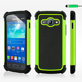 Dual Layer Shockproof Case For Samsung Galaxy J1 - Green Mobile phones