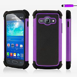 Dual Layer Shockproof Case For Samsung Galaxy J1 - Purple Mobile phones