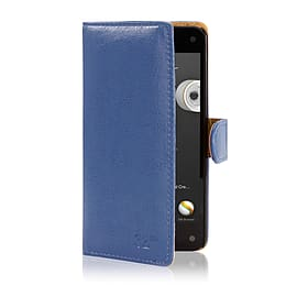 Book Pu Leather Wallet Case For Alcatel Pixi 3 3.5? - Deep Blue Mobile phones