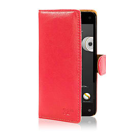 Book Pu Leather Wallet Case For Alcatel Pixi 3 4.5? - Red Mobile phones