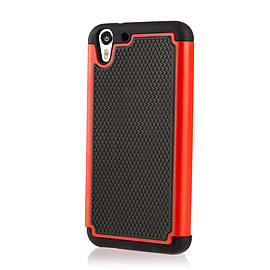 Dual Layer Shockproof Case For Htc Desire 626 - Red Mobile phones