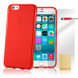 Crystal Gel Gel Case For Apple Ipod Touch 6 - Red Mobile phones