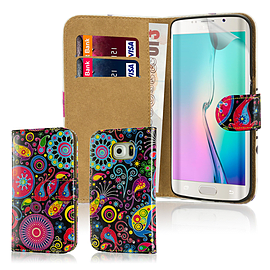Design Book Pu Leather Wallet Case For Samsung Galaxy S6 Edge Plus - Jellyfish Mobile phones