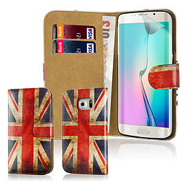 Design Book Pu Leather Wallet Case For Samsung Galaxy S6 Edge Plus - Union Jack Mobile phones