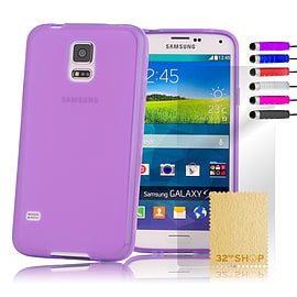 Crystal Gel Gel Case For Samsung Galaxy S6 Edge Plus - Purple Mobile phones