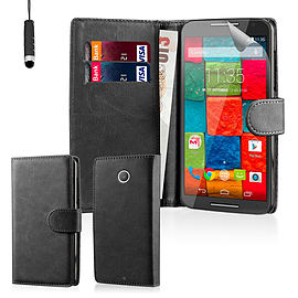 Book Pu Leather Wallet Case For Oneplus Two - Black Mobile phones