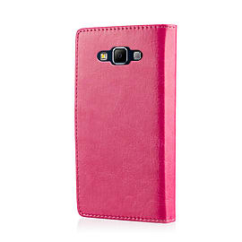 Book Pu Leather Wallet Case For Samsung Galaxy J5 - Hot Pink Mobile phones
