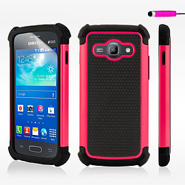 Dual Layer Shockproof Case For Samsung Galaxy J5 - Hot Pink Mobile phones