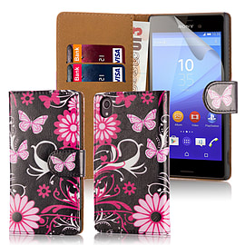 Design Book Pu Leather Wallet Case For Sony Xperia Z5 - Gerbera Mobile phones