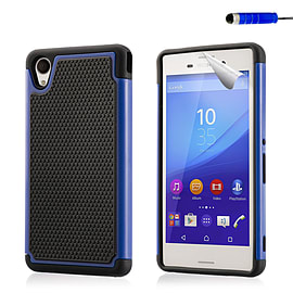 Dual Layer Shockproof Case For Sony Xperia Z5 - Deep Blue Mobile phones