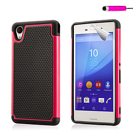 Dual Layer Shockproof Case For Sony Xperia Z5 - Hot Pink Mobile phones