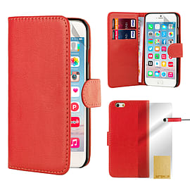 Book Pu Leather Wallet Case For Apple Iphone 6s Plus - Red Mobile phones