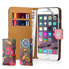 Design Book Pu Leather Wallet Case For Apple Iphone 6s Plus - Jellyfish Mobile phones