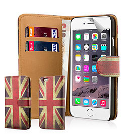 Design Book Pu Leather Wallet Case For Apple Iphone 6s Plus - Union Jack Mobile phones