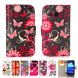 Design Book Pu Leather Wallet Case For Samsung Galaxy A3 - Gerbera Mobile phones