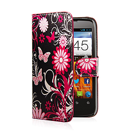 Design Book Pu Leather Wallet Case For Zte Blade L3 - Gerbera Mobile phones