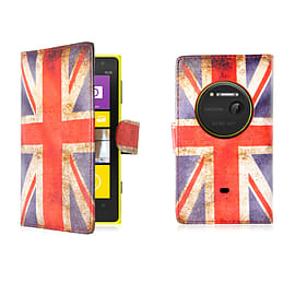 Design Book Pu Leather Wallet Case For Microsoft Lumia 1030 - Union Jack Mobile phones