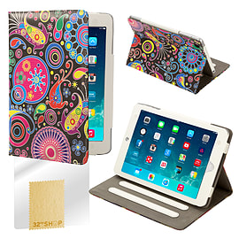 Design Book Pu Leather Wallet Case For Apple Ipad Mini 4 - Jellyfish Tablet
