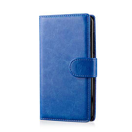 Book Pu Leather Wallet Case For Lenovo A6000 - Deep Blue Mobile phones