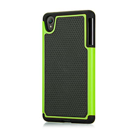 Dual Layer Shockproof Case For Sony Xperia C4 - Green Mobile phones