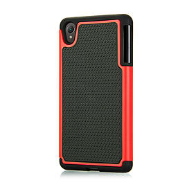 Dual Layer Shockproof Case For Sony Xperia C4 - Red Mobile phones