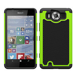 Dual Layer Shockproof Case For Microsoft Lumia 950 - Green Mobile phones