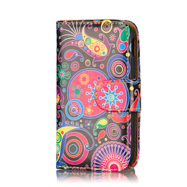 Design Book Pu Leather Wallet Case For Alcatel Pixi 3 (4.5 Inch) - Jellyfish Mobile phones