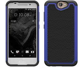 Dual Layer Shockproof Case For Htc One A9 - Deep Blue Mobile phones