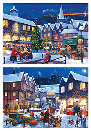 Gibsons Christmas Eve Jigsaw Puzzles (2 X 500 Pieces) Traditional Games