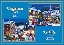 Gibsons Christmas Eve Jigsaw Puzzles (2 X 500 Pieces) screen shot 1