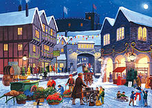 Gibsons Christmas Eve Jigsaw Puzzles (2 X 500 Pieces) screen shot 3