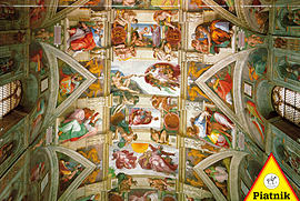 Piatnik Michelangelo - The Ceiling Of The Sistine Chapel Jigsaw Puzzle (1000 Pieces) Traditional Games