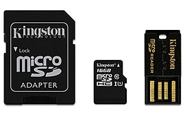 Kingston Mobility/multi Kit - 16gb Sdc10/16gb, Mrg2, With Microsd To Sd Adapter Mobile phones