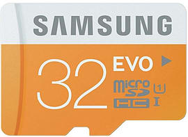 Samsung Memory 32gb Evo Microsdhc Uhs-i Grade 1 Class 10 Memory Card With Sd Adapter Mobile phones
