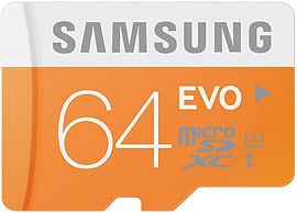 Samsung Memory 64gb Evo Microsdhc Uhs-i Grade 1 Class 10 Memory Card With Sd Adapter Mobile phones