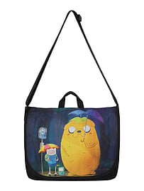 Adventure Time Totoro Style At Messenger Bag 43x35x10cm Sports Camping and Hiking