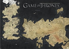 Game Of Thrones Map Of Westeros & Essos Got Giant Poster 140x100cm Posters