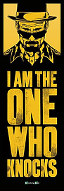 Breaking Bad I Am The One Who Knocks Door Poster 53x158cm Posters