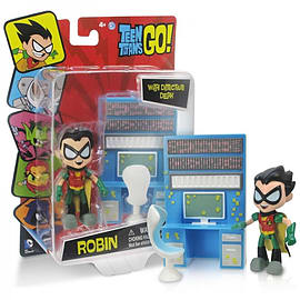 Teen Titans Go Robin With Detective Desk Mini Figure Figurines and Sets