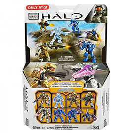 Halo Action Figure Collectors Edition Pack Blocks and Bricks