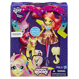Equestria Girls Doll And Pony Set - Fluttershy Figurines and Sets